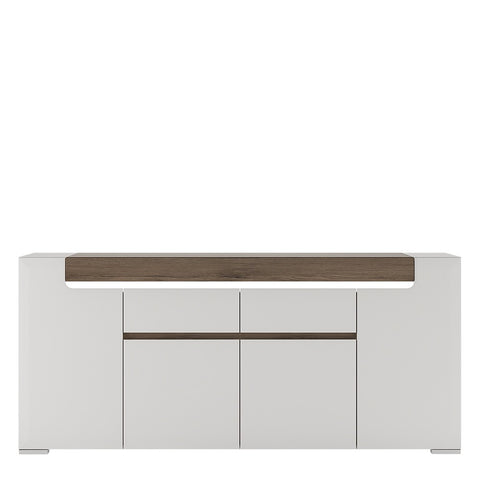 Toronto Range- Wide 4 Door 2 Drawer Sideboard (inc Plexi Lighting)