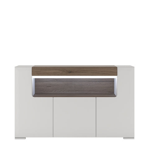Toronto Range- 3 Door Sideboard with open shelving (inc Plexi Lighting)