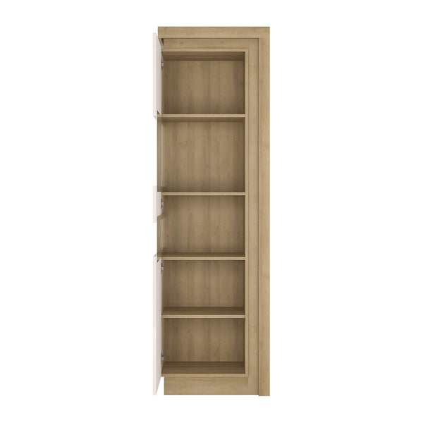 Lyon Range- Tall narrow display cabinet (LHD) (including LED lighting)