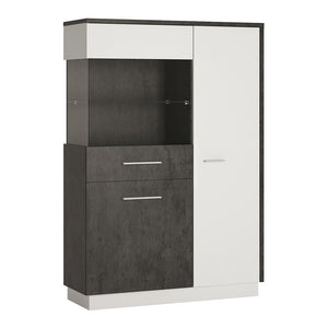 Zingaro Range- Low display cabinet (LH)