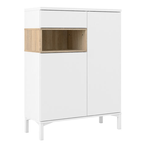 Roomers Range- Sideboard 2 Drawers 1 Door in White and Oak