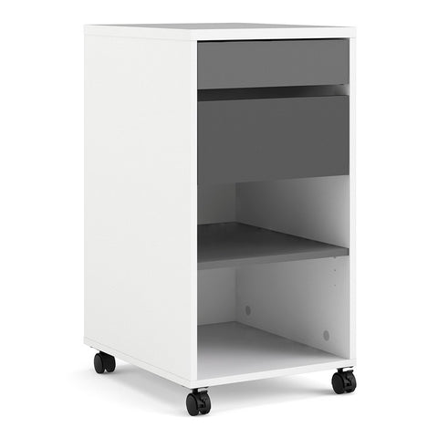 Function Plus Range- Function Plus Mobile file cabinet 2 drawers + 1 shelf White Grey