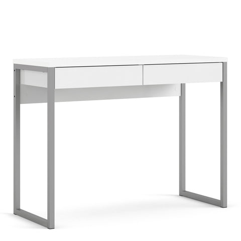 Function Plus Range- Desk 2 Drawers in White High Gloss