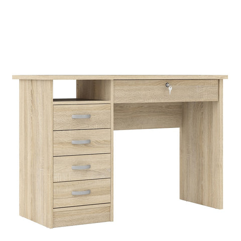 Function Plus Range- Desk 5 Drawers in Oak