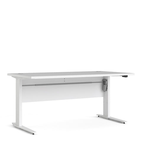 Prima Range- Prima Desk 150 cm in White with Height adjustable legs with electric control in White