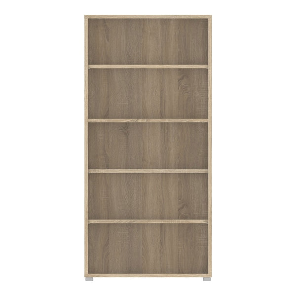 Prima Range- Bookcase 4 Shelves in Oak