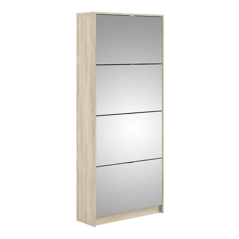Shoes Cabinet Range- Shoe cabinet w. 4 mirror tilting doors and 2 layers