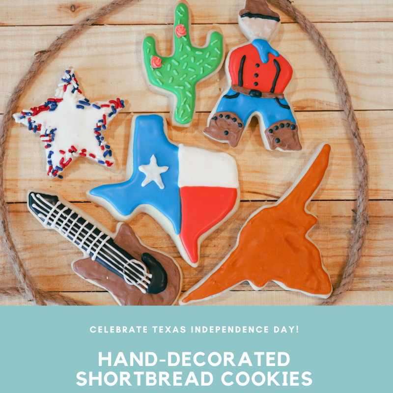 Hand-Decorated Texas Cookies- FREE Austin Delivery
