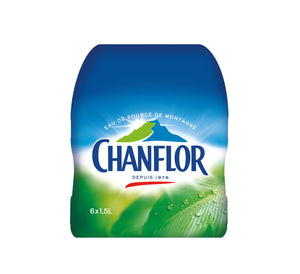 Eau de source CHANFLOR 6x1,5L