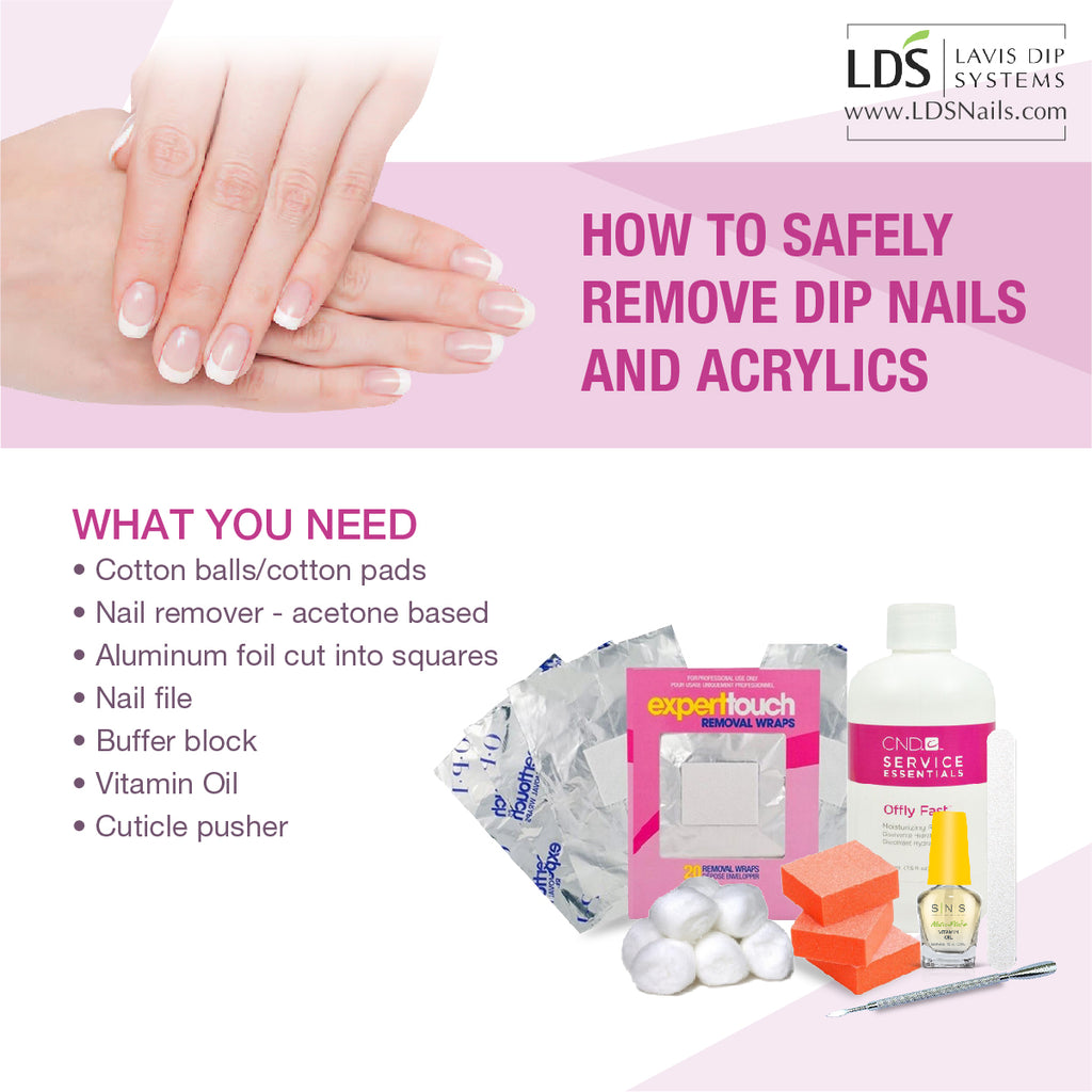 How to Safely Remove Dip Nails and Acrylics