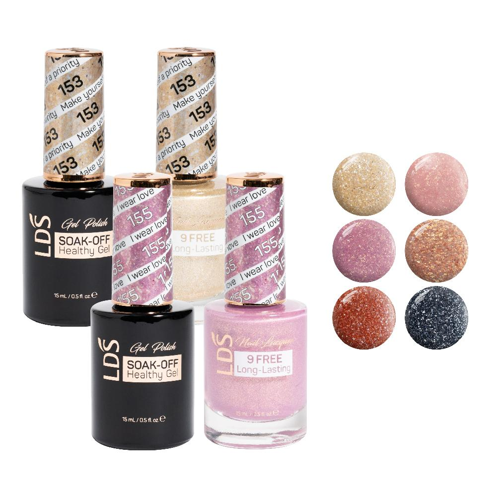 LDS Gel Lacquer Bridal Collection: 153, 154, 155, 156, 157, 158