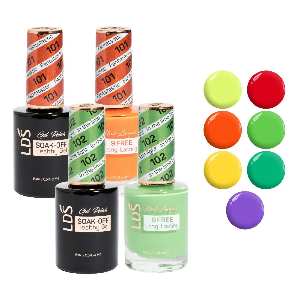 LDS Gel Lacquer Neon Collection: 99, 100, 101, 102, 103, 104, 105