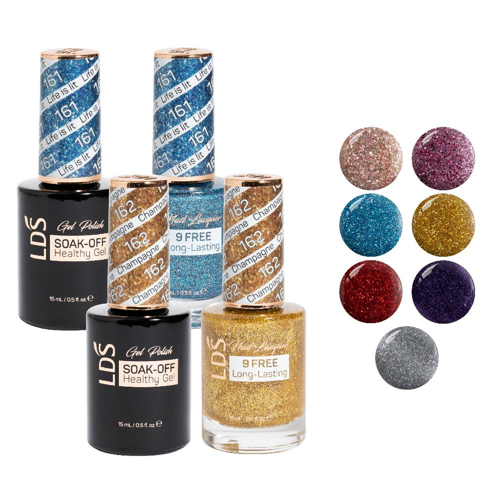 LDS Gel Lacquer Sparkle Collection: 159, 160, 161, 162, 163, 164, 165