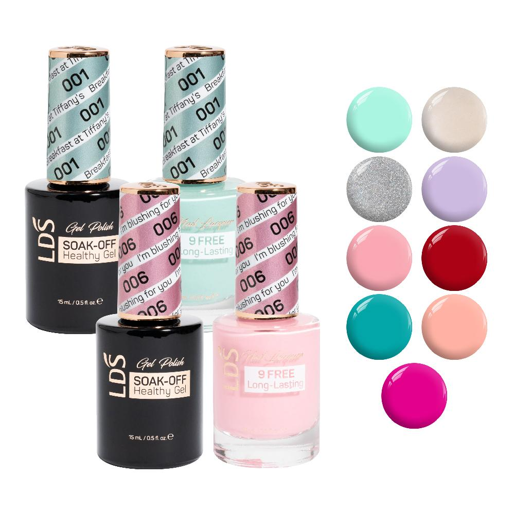 LDS Gel Lacquer Spring Collection: 01, 02, 03, 04, 06, 23, 27, 82, 87