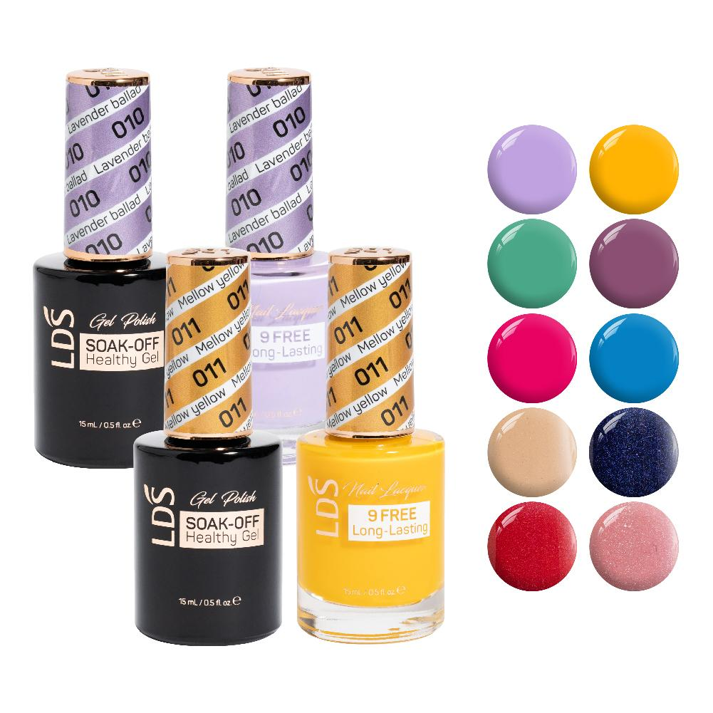 LDS Gel Lacquer Summer Collection: 10, 11, 18, 19, 120, 143, 115, 131, 142, 134