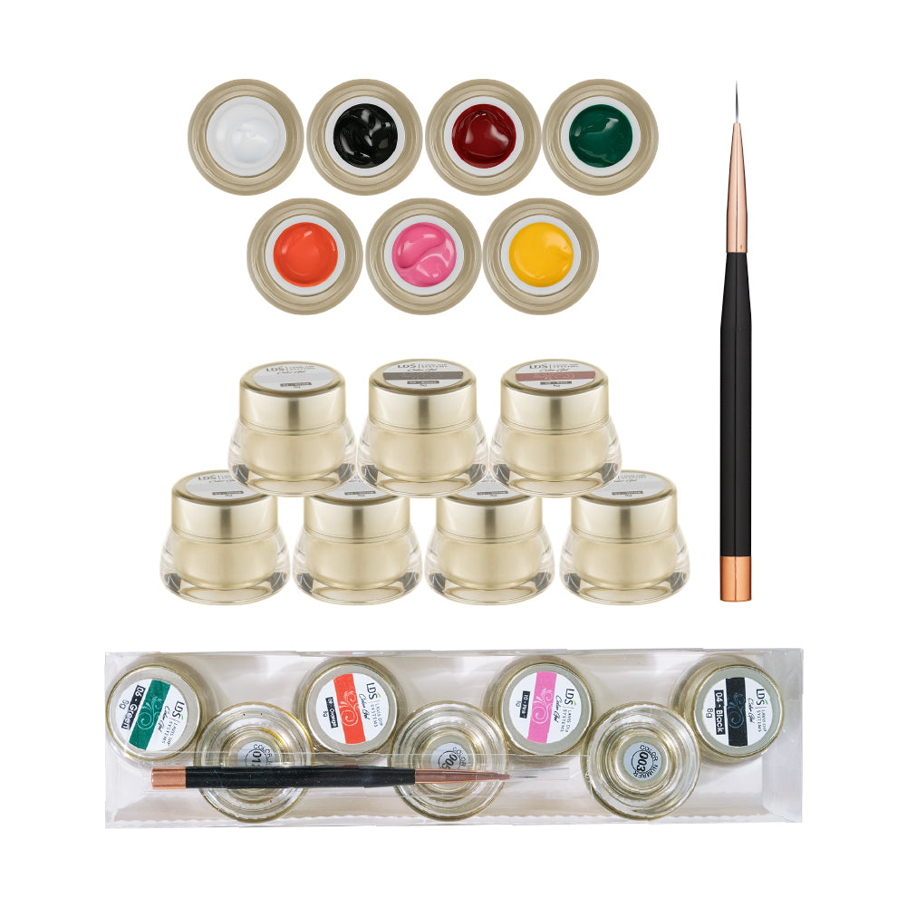 LDS Draw Painting Gel Nails Polish Nail Art Kit