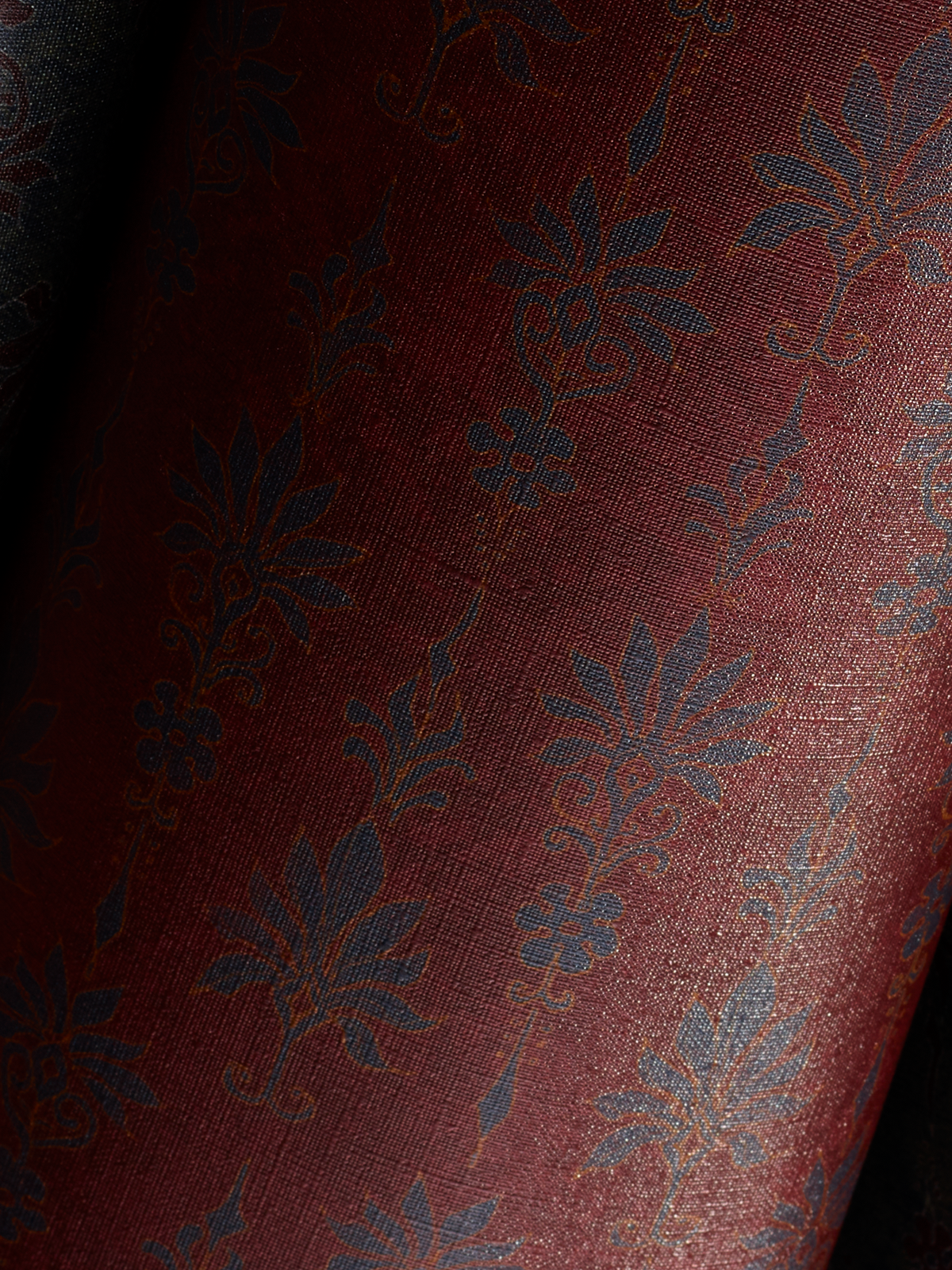 The Maker Palmette Wallpaper in Crimson