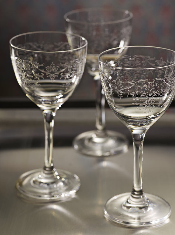 """Vintage Lace"" Cocktail Glass set of 6"