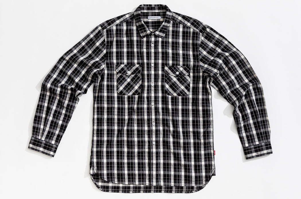 Check Shirt / Black + White