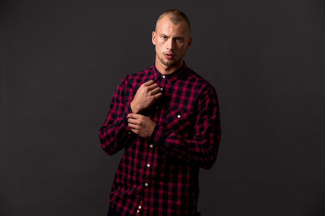Check Shirt / Red + Black