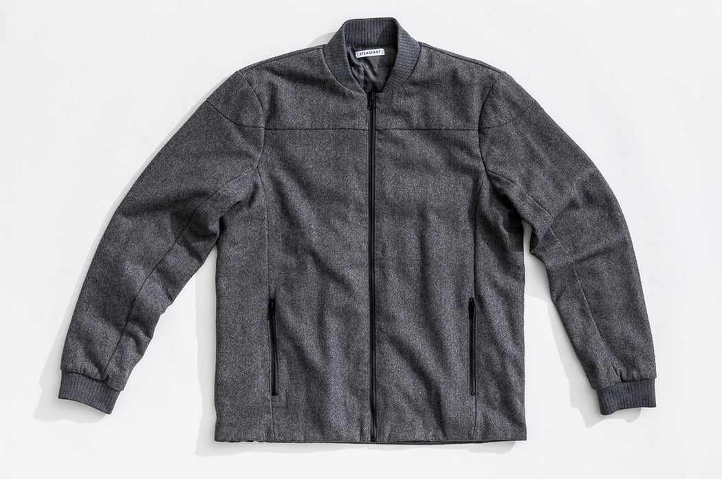 Reversible Wool Bomber / Grey