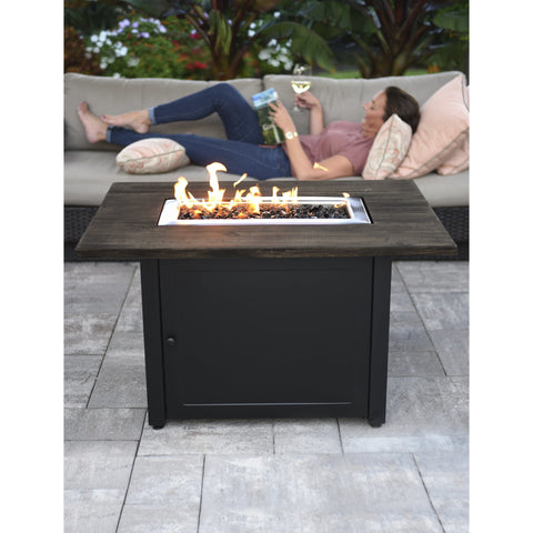 Endless Summer The Marc, 40 x 28 Rectangular Gas Outdoor Fire Pit GAD17107ES