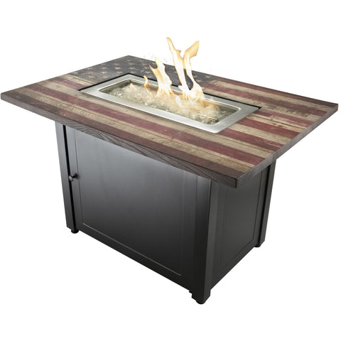Endless Summer The Americana, 40 x 28 Rectangular Gas Outdoor Fire Table GAD17108ES