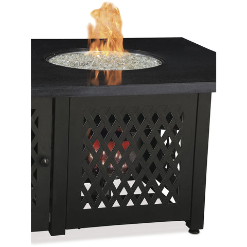 Endless Summer LP Gas Outdoor Fire Pit with Dual Heat Technology and Granite Mantel GAD18100M