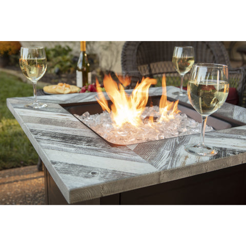 Endless Summer The Duval, LP Gas Outdoor Fire Pit with Printed Resin Mantel GAD15287SP