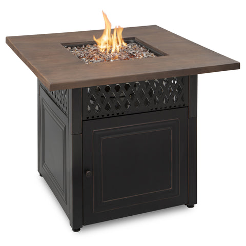 Endless Summer The Donovan, Dual Heat LP Gas Outdoor Fire Pit/Patio Heater with Wood Look Resin Mantel GAD19102ES