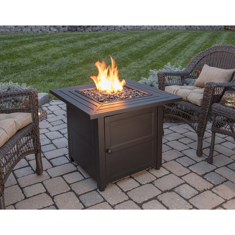Endless Summer LP Gas Outdoor Fire Pit with 30-in Steel Mantel GAD1423M
