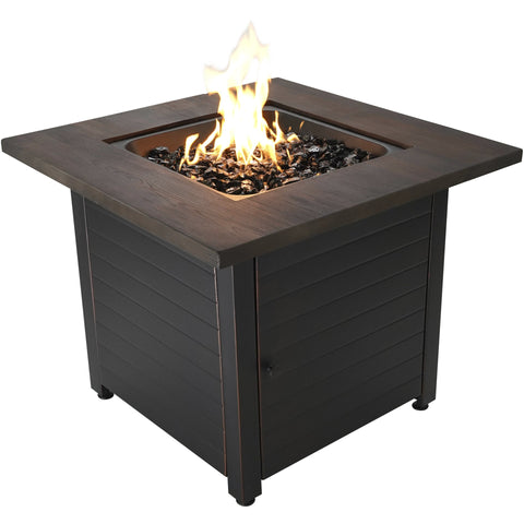 "Image of Endless Summer The Spencer, 30"" LP Gas Outdoor Fire Pit with Printed Resin Mantel GAD15297ES"