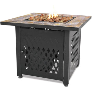 "Endless Summer LP Gas Outdoor Fire Pit with 30"" Slate Tile Mantel GAD1429SP"
