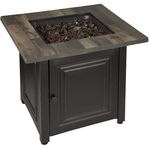 Endless Summer The Burlington, LP Gas Outdoor Fire Pit with Printed Resin Mantel GAD15285SP