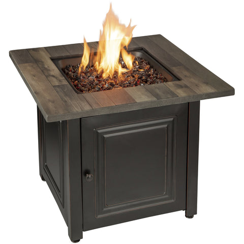 Image of Endless Summer The Burlington, LP Gas Outdoor Fire Pit with Printed Resin Mantel GAD15285SP