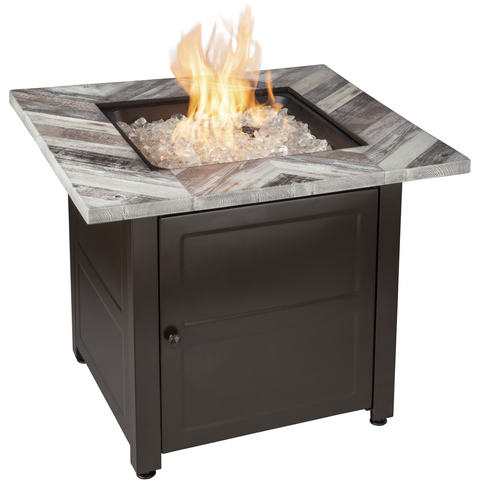 Image of Endless Summer The Duval, LP Gas Outdoor Fire Pit with Printed Resin Mantel GAD15287SP
