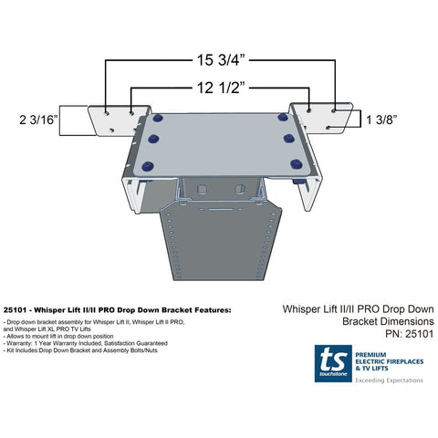 Image of Touchstone Whisper Lift Drop Down Bracket 25101