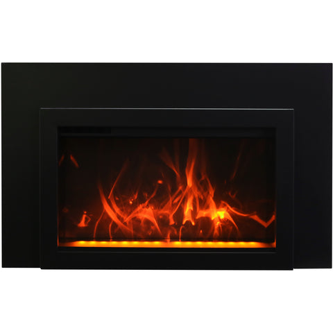 Amantii Traditional Series Electric Fireplace 3 Sided Trim
