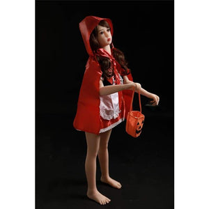 133cm ( 4.36ft ) Small Breast Sex Doll Little Red Riding Hood - lovedollshop