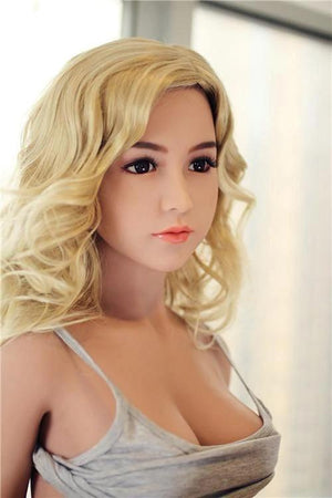 158cm blonde Beautiful Real TPE Silicone Sex Doll Emily - realdollshops.com