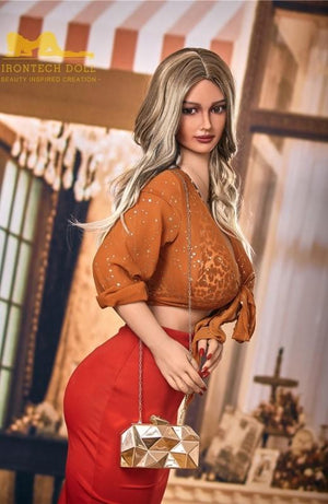 158cm blonde curly hair mature big breasts big ass curvy sex doll Hellen - lovedollshops.com