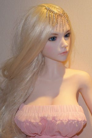 6YE 132cm D cup big titis blonde mini pink sex doll Catherine - lovedollshop