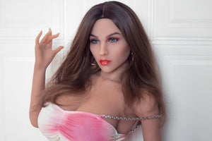 AF 170 cm European and American mid-breasted brown hair and blue big eyes sex doll-Kerity - lovedollshops.com