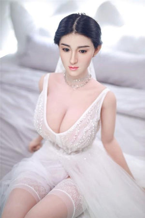 Asian silicone head realistic wedding big breast sex doll – Alesre - lovedollshops.com