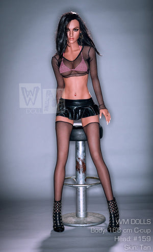 Bella - WM 166cm C cup Customized Full Stainless Steel Skeleton hairy vagina sex doll - lovedollshop