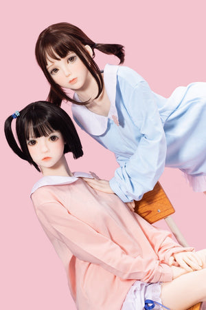 Bezlya Doll 145cm Twins Small Chest Lolita Love Doll- Peach & Ruri - lovedollshops.com