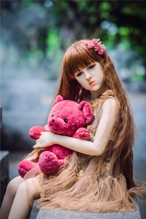 Irontech 128cm dear long curvy hair sex doll Emma - lovedollshop