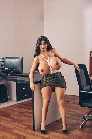 Irontech 140cm huge breast Latina sex doll Malak - lovedollshop