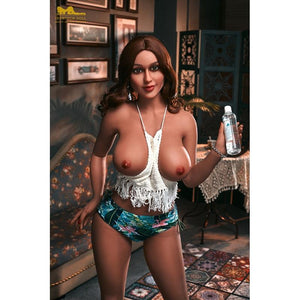 Irontech 161cm African Big Ass Big Breasts Full TPE Metal Skeleton Adult Sex Doll Jessica - lovedollshops.com