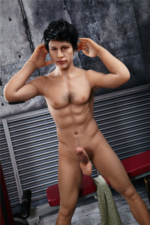 Irontech male muscular white T-shirt sex doll Charles - lovedollshop